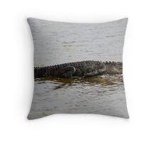 Lazy Gator Throw Pillow