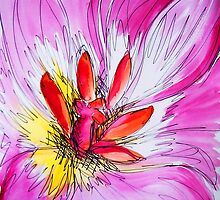Pink Tulip study #1 by Amy Bettison