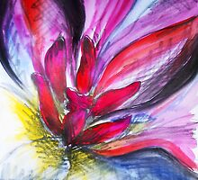 Pink Tulip study #3 by Amy Bettison