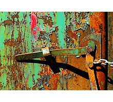 Locked Lever Photographic Print