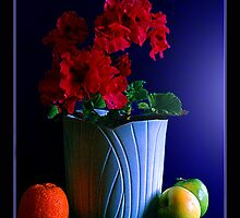 Potted Flower with Fruit by Shiftstick