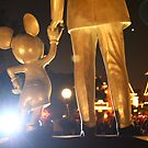 The Partners Statue at Night by Rechenmacher