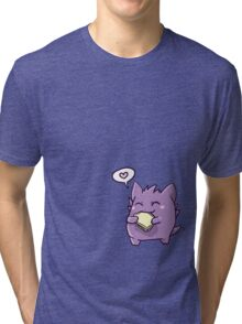 Gengar with a sandwich Tri-blend T-Shirt