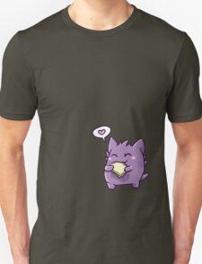Gengar with a sandwich Unisex T-Shirt