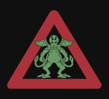 Cthulhu Warning signs Kids Tee