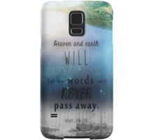 Matthew 24:35 Samsung Galaxy Case/Skin