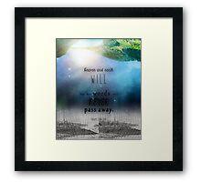 Matthew 24:35 Framed Print