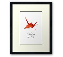 Paper Wish Framed Print