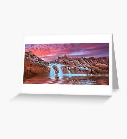 Spa pool, Wyadup rocks, Yallingup, Western Australia Greeting Card