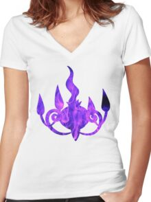 Chandelure used shadow ball Women's Fitted V-Neck T-Shirt