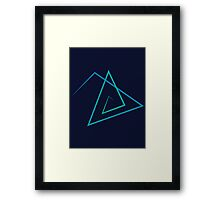 Triangle Line Pattern Framed Print