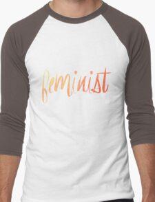 Feminist Typography 1 Men's Baseball ¾ T-Shirt