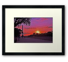 Sunset on the Mall - Washington, DC Framed Print