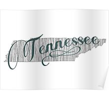 Tennessee State Typography Poster
