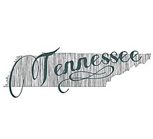 Tennessee State Typography Photographic Print