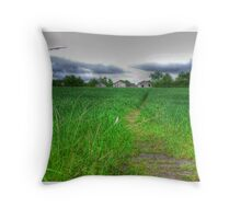 Path by Day Throw Pillow