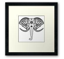 elephant head Framed Print