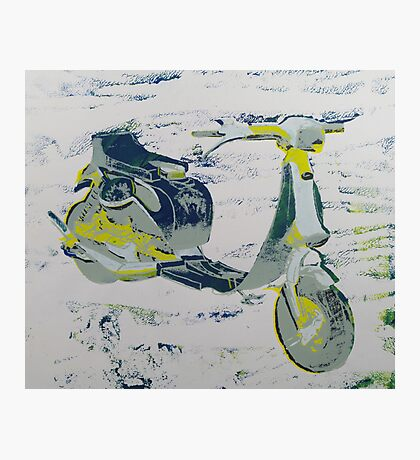 1980s Cutdown Scooter Yellow and Blue Photographic Print