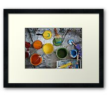 Many Paints Framed Print