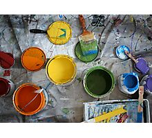 Many Paints Photographic Print