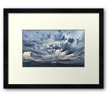 Threatening Sky Framed Print