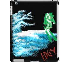 Edgy Skiing Halftone Astronaut iPad Case/Skin