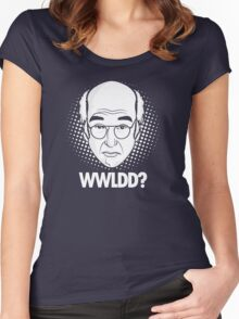What would Larry David do? Women's Fitted Scoop T-Shirt