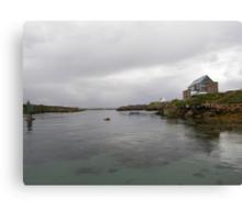 Blue Boat - Rutland Island - Donegal -  Ireland Canvas Print