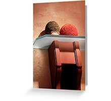 Textures in red and orange Greeting Card