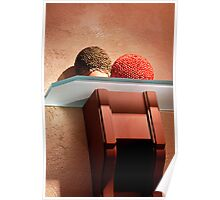 Textures in red and orange Poster