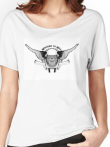 skull with wings and two pistols Women's Relaxed Fit T-Shirt