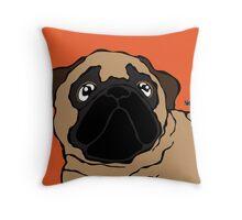 Pug 2 Throw Pillow