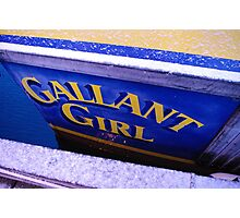 "The ""Gallant Girl"" Photographic Print"