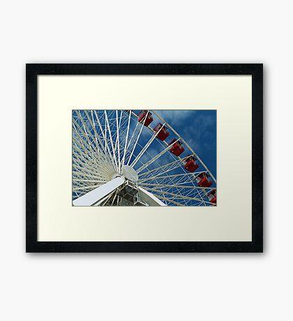 Patriotic Ferris Wheel Framed Print