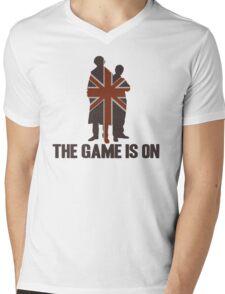 Sherlock - The Game Is On! Mens V-Neck T-Shirt