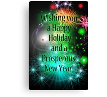 Happy Holiday and Prosperous New Year Canvas Print