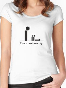 Fear authority. Women's Fitted Scoop T-Shirt