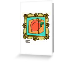 Food For Thought - Peach Jell-o Greeting Card