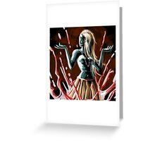 blood magic queen Greeting Card