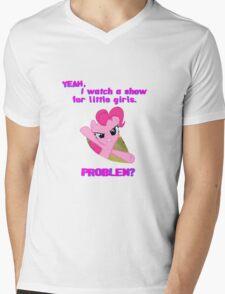 Problem with Pinkie Pie? Mens V-Neck T-Shirt