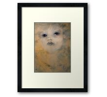 Coffee and Blue Ink Framed Print