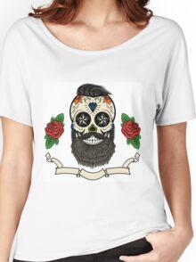 bearded skull Women's Relaxed Fit T-Shirt