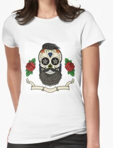 bearded skull Womens Fitted T-Shirt