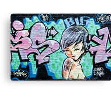 Graffiti Girl Canvas Print