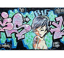 Graffiti Girl Photographic Print