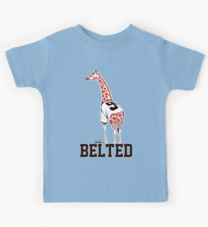 Belted Belt Giraffe Kids Tee