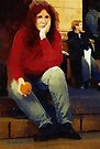 Woman with An Orange by RC deWinter