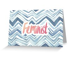 Feminist Typography 2 Greeting Card