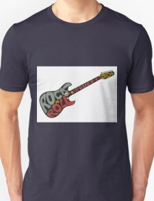 """""""Rock n roll"""" vintage poster. Rock and Roll guitar logo in retro style T-Shirt"""