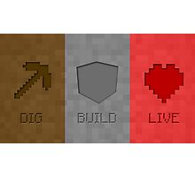Dig Build Live Photographic Print